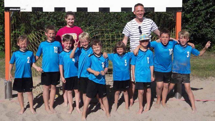 F-Jugend bei super Beachwetter in Schwegenheim erfolgreich