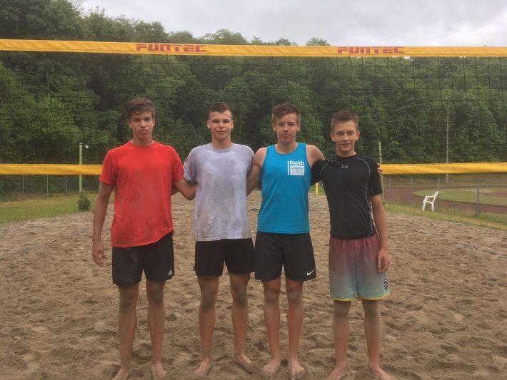 Meister und Vizemeister bei der U17 Beach-Landesmeisterschaft