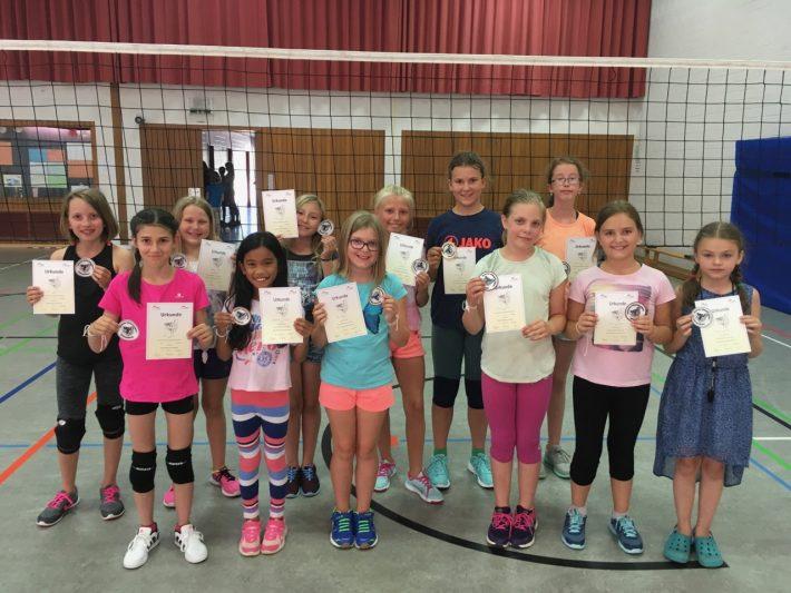 Volleyball Spielabzeichen für unsere Jüngsten