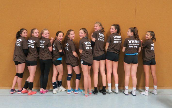 U16 Volleyballerinnen gewinnen die Rheinland-Pfalz-Meisterschaft
