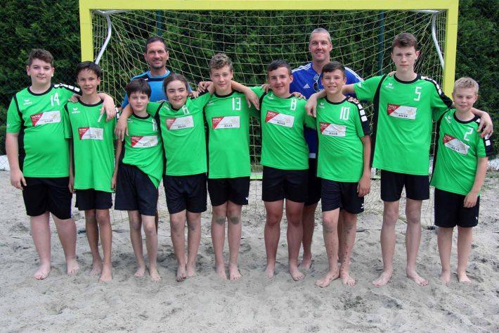 Männliche C-Jugend belegt 4. Platz beim Heim-Beachturnier