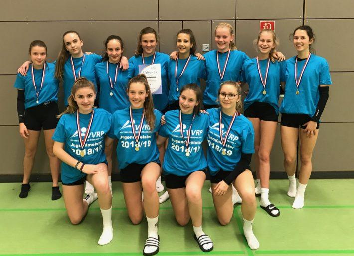 U16 Volleyballerinnen werden Landesmeister
