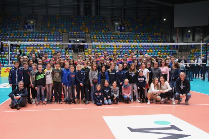 TuS-Jugend bei den United Volleys Frankfurt