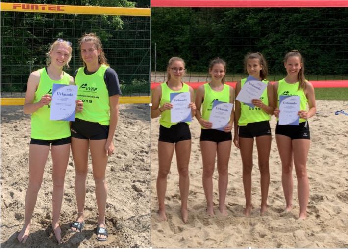 Erfolgreiche Beachvolleyballerinnen