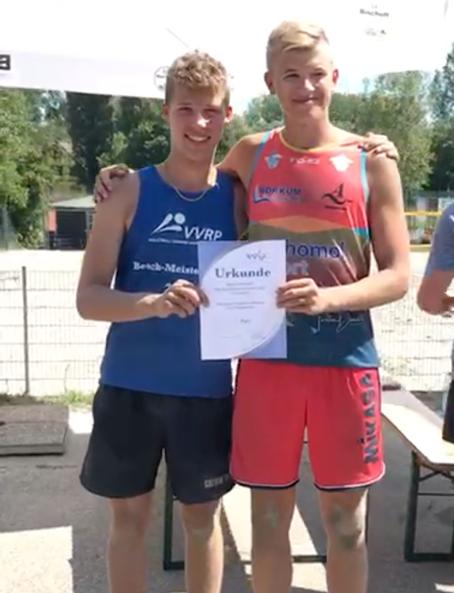 Beachvolleyball – Felix Mast und Tobias Hoffmann gewinnen U17m Qualifikationsturnier