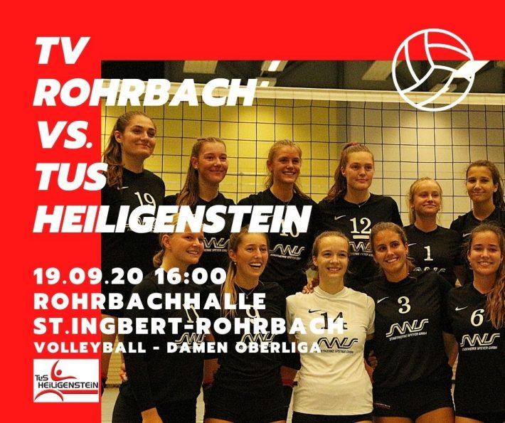Volleyball Damen 1 – Auswärtsspiel gegen TV Rohrbach – 19.09.20