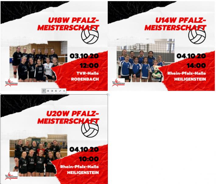 Volleyball Pfalzmeisterschaften U14-U20 – 03./04.10.20