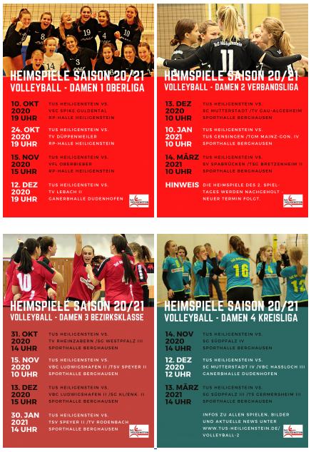Volleyball – Alle Heimspiele im Blick: neue Poster D1-D4 zum Download