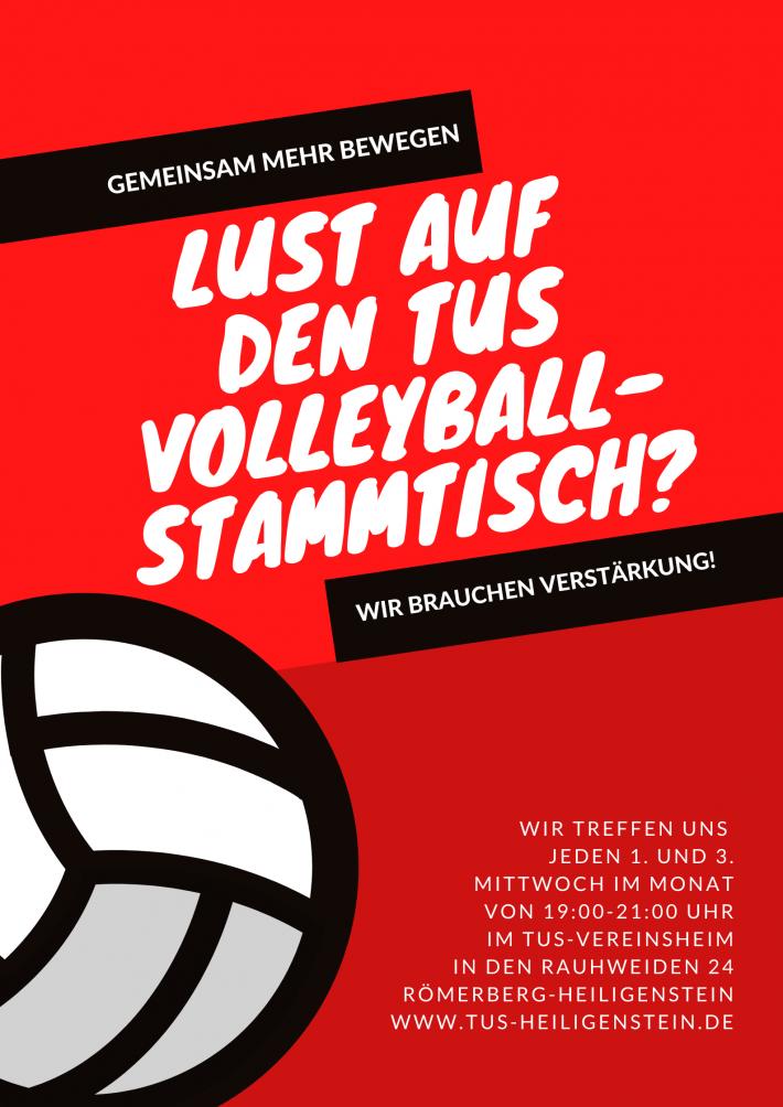 Volleyball – TuS Volleyball-Stammtisch 2 x im Monat