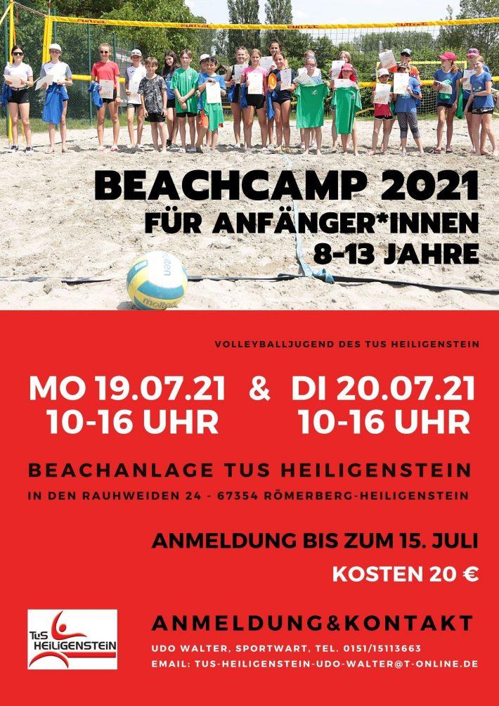 Beachvolleyball – Ankündigung Beach-Camp 2021 – 19./20.07.2021