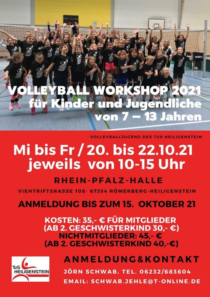 Volleyball – Workshop 2021 – 20.-22.10.21 – Kinder u. Jugendliche (7-13 Jahre)
